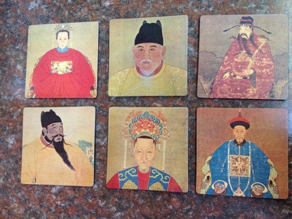 Vintage Asian Coaster Set of 6 by LikewiseThrift on Etsy, $19.99