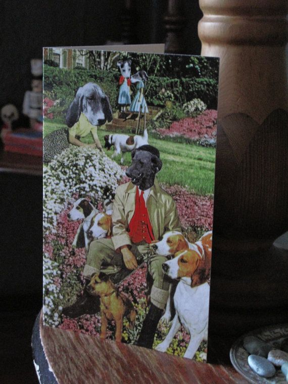 Collage Print Greeting Card Call Me Master by by ArtFarmEtsy, $5.60