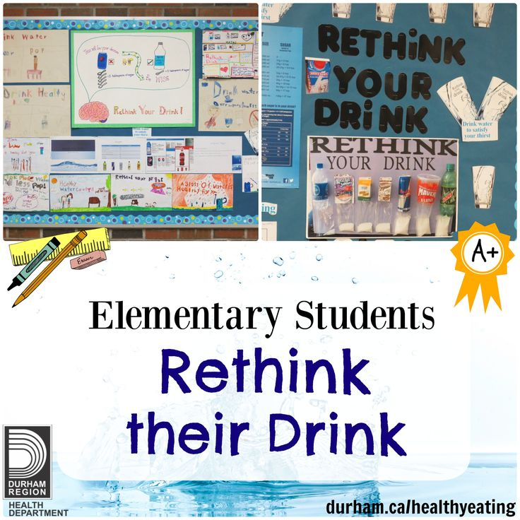 Sugar sweetened beverages are the main source of added sugar in the daily diet of children and youth. Check out page 14 of our Healthy Schools Newsletter to find out how your students can #rethink their drink with a student leadership project! #water