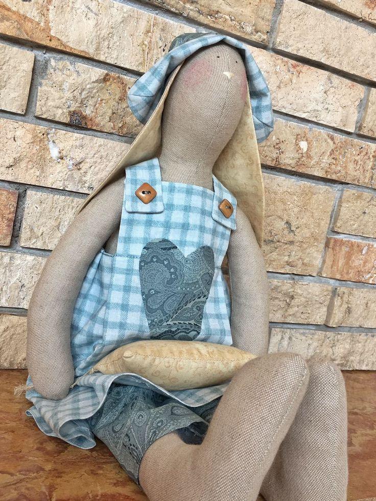 Tilda doll , Tilda bunny , Fiocco nascita , Coccarda nascita , Coniglietto Tilda. di DanielaPatchwork su Etsy