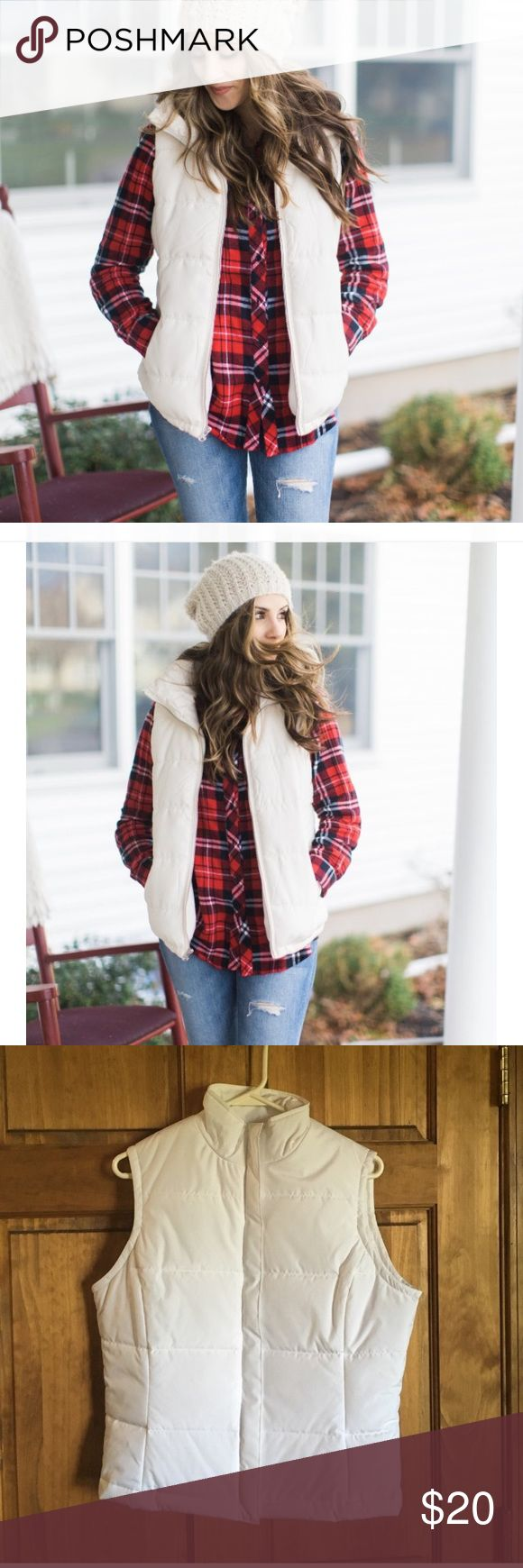White puffer vest! Excellent condition! No rips or stains. Moda international brand from the Victoria's Secret catalog! Check out my other listings, bundle and save! Victoria's Secret Jackets & Coats Vests