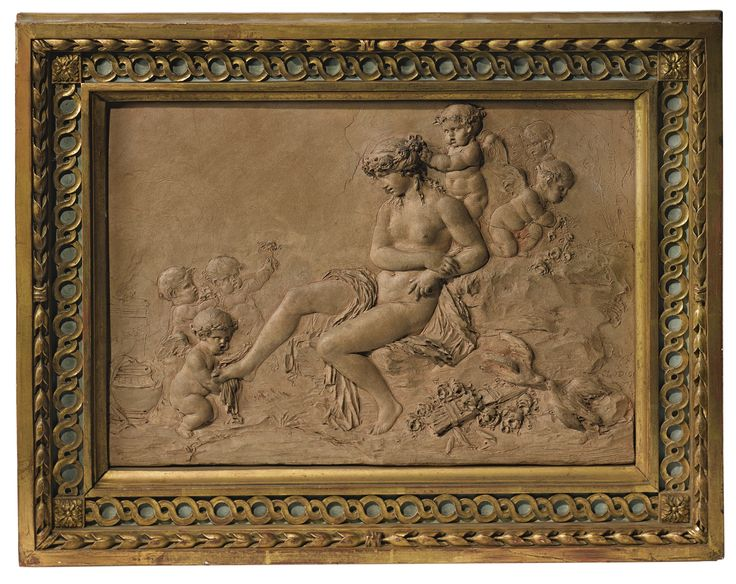 In the manner of Claude Michel, called Clodion (1738-1814) French, late 18th/early 19th century RELIEF WITH THE TOILETTE OF VENUS