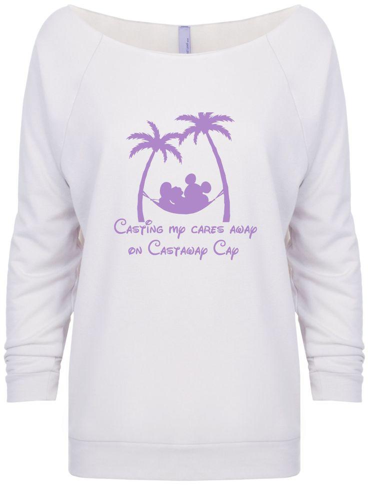 Disney cruise inspired Casting My Cares Away on Castaway Cay Carribean Bahamas sweatshirt by JusTeezin on Etsy