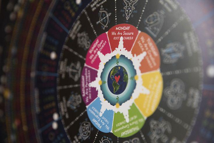A close up photo of Wilder's Spectrum Cosmic Calendar.