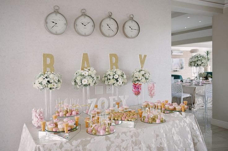 Pink and Gold Tutu Baby Shower  - Sweet Display - Candy buffet