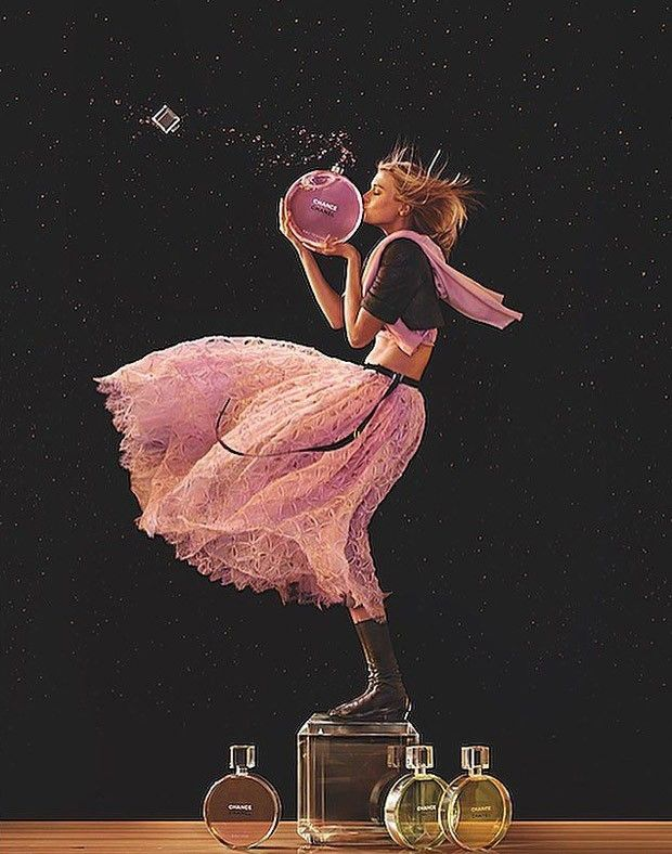 First look at Chanel Chance Eau Tendre/Eau Vive fragrances 2016 advertising campaign captured by fashion photographer Jean-Paul Goude with styling from Alex ...