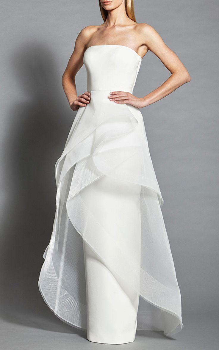 Strapless Tiered Gown by Romona Keveža | Moda Operandi