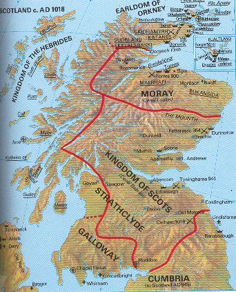 """Map of Scotland and the Picts-historians have adopted the terms """"Pict"""" or """"Pictish"""" as a convenient label for the period and people from about AD 300-800."""