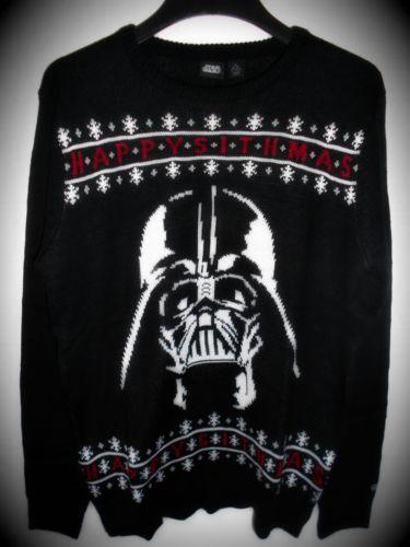 NEU-STAR-WARS-DARTH-VADER-Weihnachtspullover-Weihnachten-Sith-Dark-Lords-Xmas