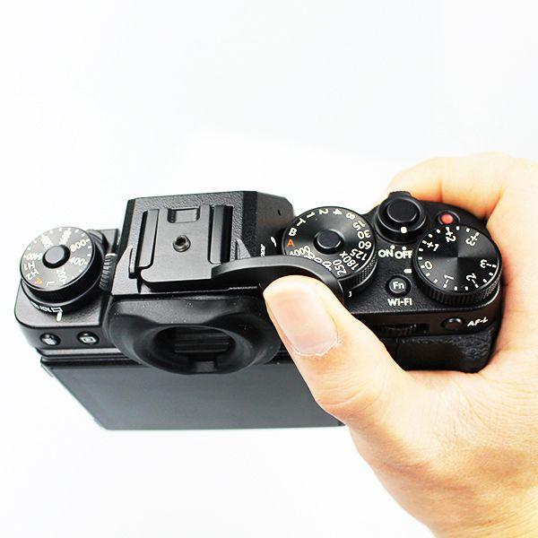 Fittest MZ-003 universal thumb grip perfectly fit the new Fuji X-T1 mirrorless camera