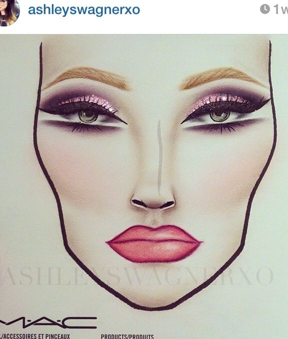 Makeup | Face charts #beauty #facechart
