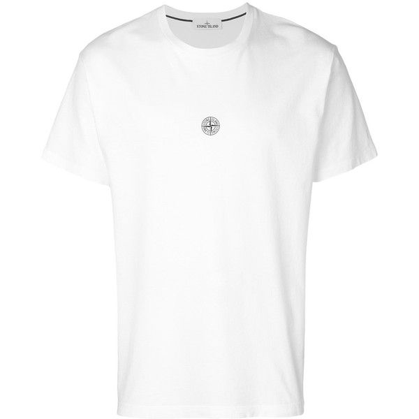 Stone Island Printed Cotton T-Shirt (385 BRL) ❤ liked on Polyvore featuring men's fashion, men's clothing, men's shirts, men's t-shirts, white, mens fitted white shirt, mens white short sleeve shirt, men's fitted t shirts, mens logo t shirts and men's cotton short sleeve shirts