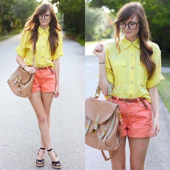 Lemon + orange.  (by Steffy Kuncman) http://lookbook.nu/look/3440965-lemon-orange
