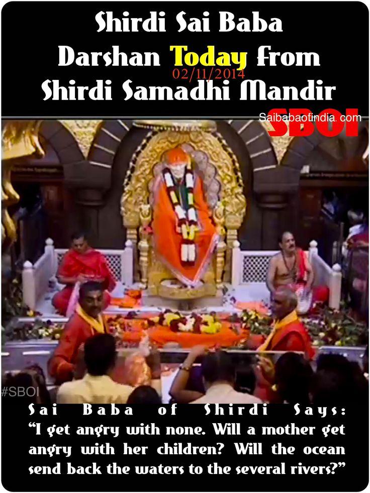 Shirdi Sai Baba Darshan Today