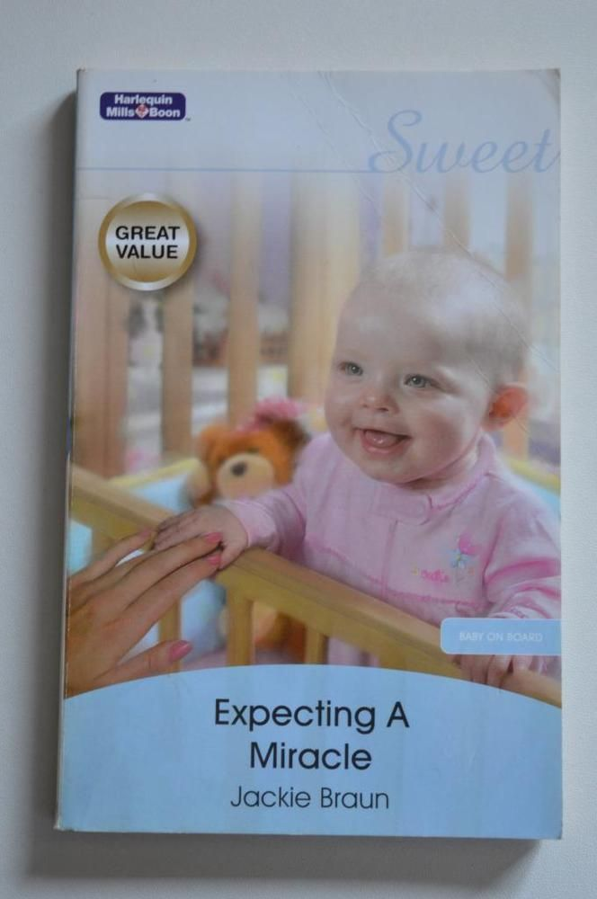 sweet , mills and boon p/back expecting a miracle.by jackie braun 2008