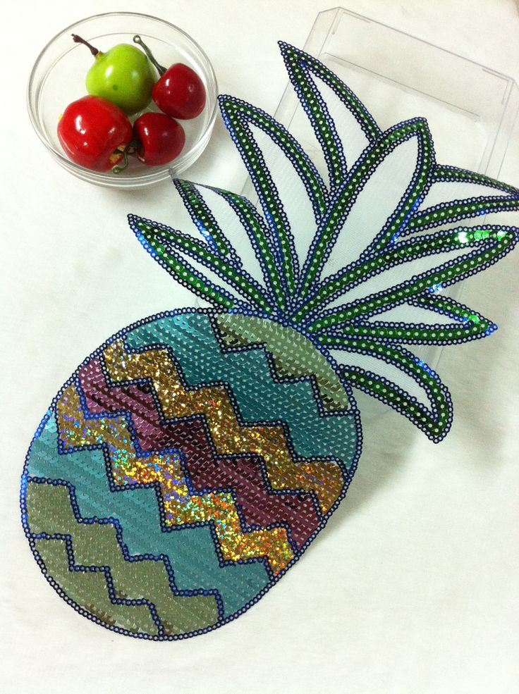 pineapple bigsize sequined parches termoadhesivos embroidery applique patches for clothes ,ironing parches para la ropa #Affiliate