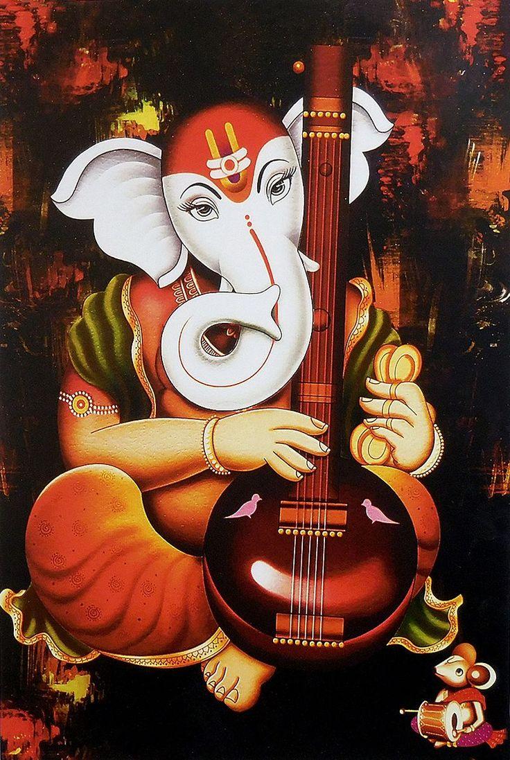 Ganesha Playing Tanpura