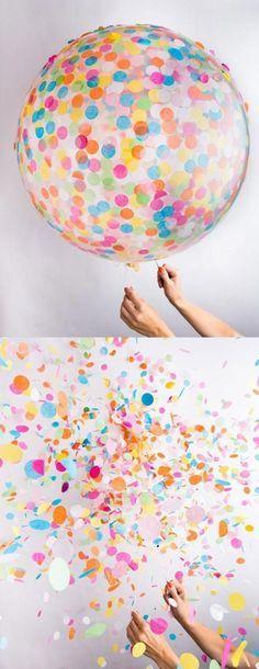 ひらひら舞う紙吹雪がオシャレ*大流行中「コンフェッティバルーン」を結婚式でお洒落に使う方法♡にて紹介している画像