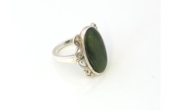Paua World - Sterling Silver Greenstone Ring with Koru Design, $130.00 (http://www.pauaworld.com/sterling-silver-greenstone-ring-with-koru-design/)