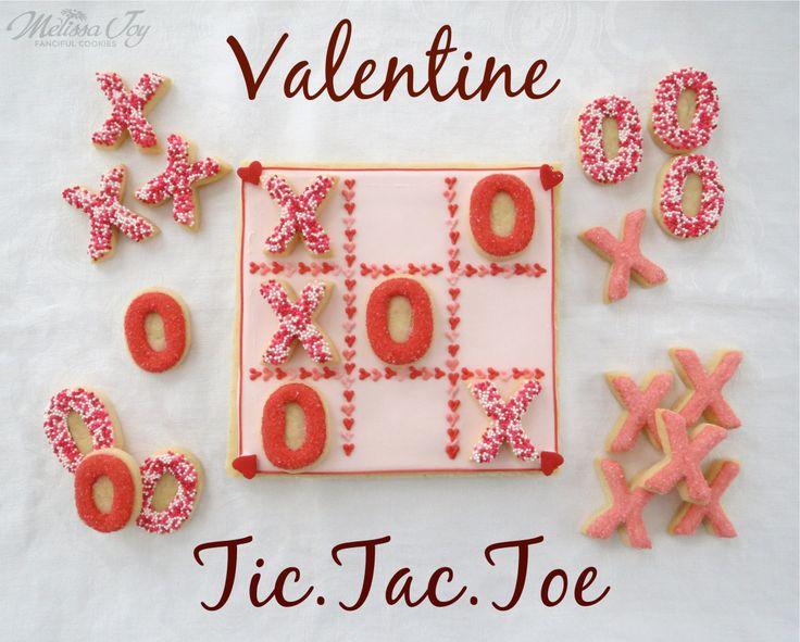 Valentine Tic Tac Toe Cookies by Melissa Joy