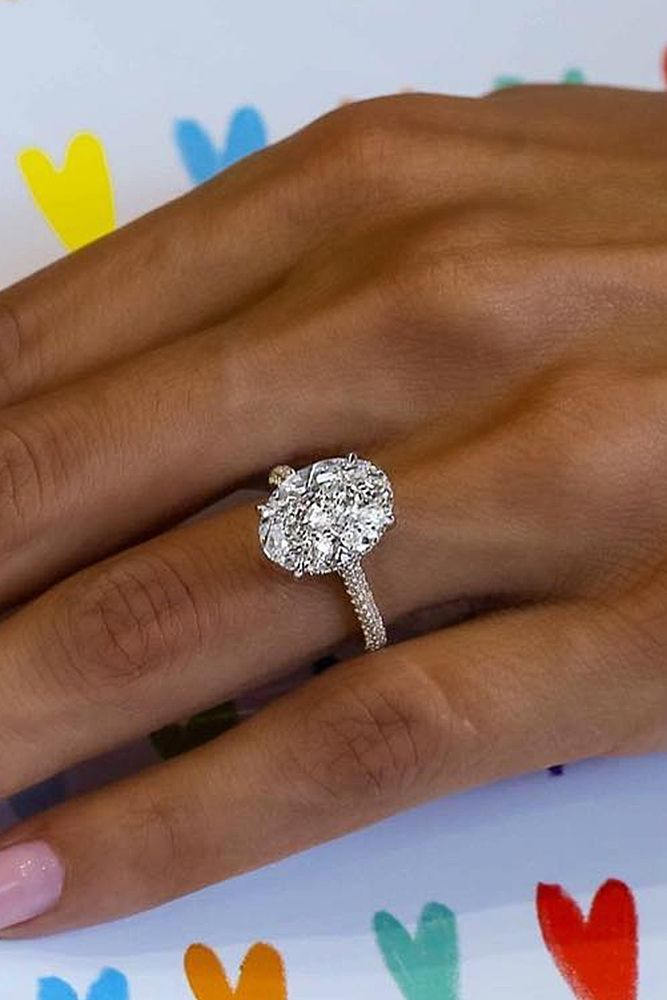 6 Most Popular Engagement Ring Designers ❤️ engagement ring designers pave band oval cut gold diamond solitaire ❤️ More on the blog: https://ohsoperfectproposal.com/engagement-ring-designers/