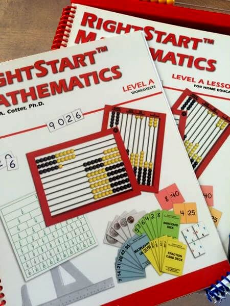 Right Start Math curriculum