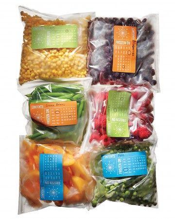 Printable templates for Freezer Storage Labels @ MarthaStewart