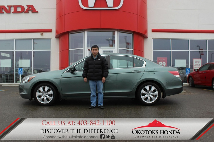 Mr. Au and his Honda Accord - thanks to Kerry Arnold Lewis. Welcome to the OH Family! Call Okotoks Honda at 403.842.1100 for your vehicle and maintenance needs.
