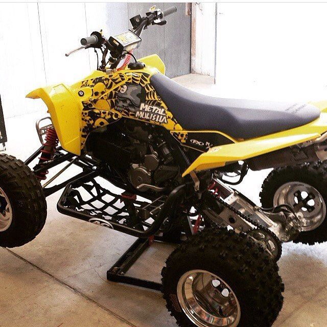 Quad reveal: 2008 Ltr 450 fuel injected with a cherry bomb and no baffle in the exhaust.. #ltr450#suzuki#braap by mx.atvlyfe