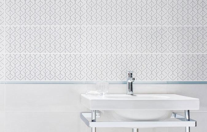 Detale i zdobienia w łazience.  Paradyż, łazienka, wystrój wnętrz, http://www.paradyz.com/plytki/lazienkowe/silvia-silvio https://www.facebook.com/CeramikaParadyz