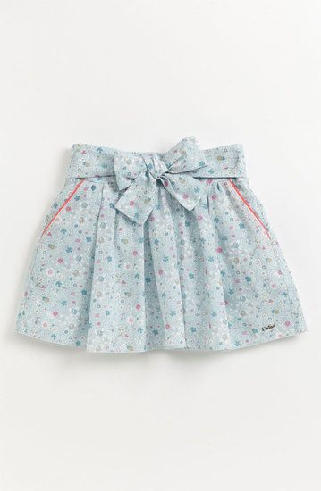 Liberty London print on Chloe's floral skirt