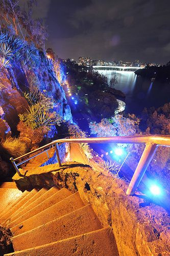 Kangaroo Point Cliffs in Brisbane ~ Queensland, Australia