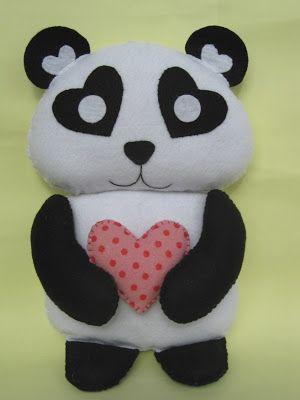 Arte e Mimos - Artesanato em feltro: Urso panda no Sabor de Vida hoje 26/05!