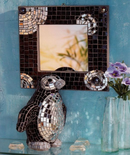 Mozaicuri - Pinguin in oglinda