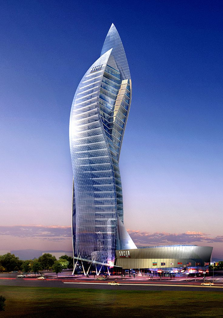 Amazing building project in baku highrise fasade for Architecture buildings