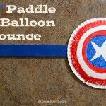 Kid Activities – DIY Paddle for Balloon Bounce Game! via acowboyswife.com