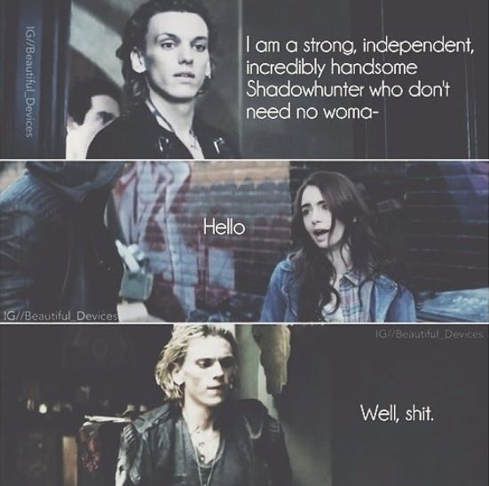 The Mortal Instruments ❤❤❤❤❤. When Isabelle tells clary how jace changed right after they met.....sigh