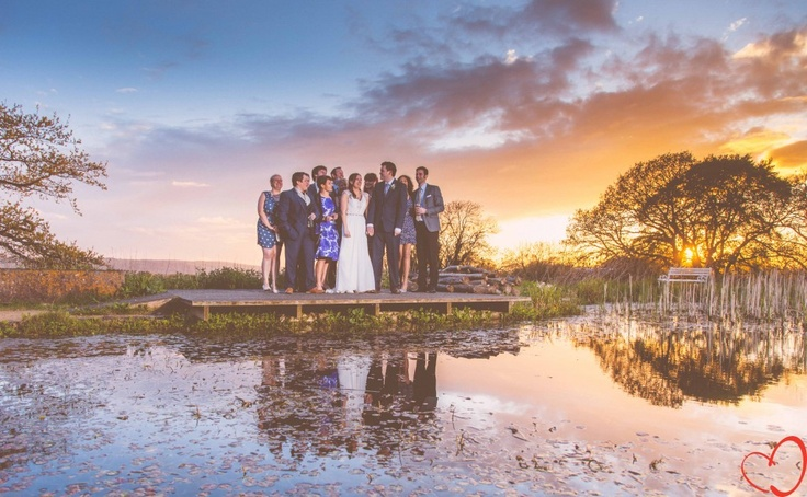 Our friends at sunset. Night photography. Country wedding theme.