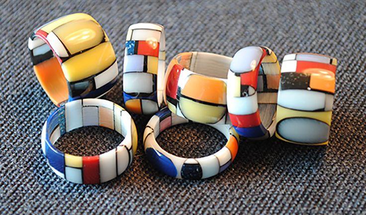 colored Corian rings  lab@francoeccel.com #francoeccel