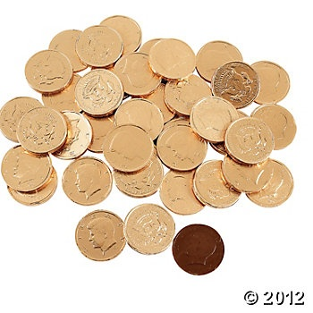 Chocolate Gold Coins....these were always kept around the house.