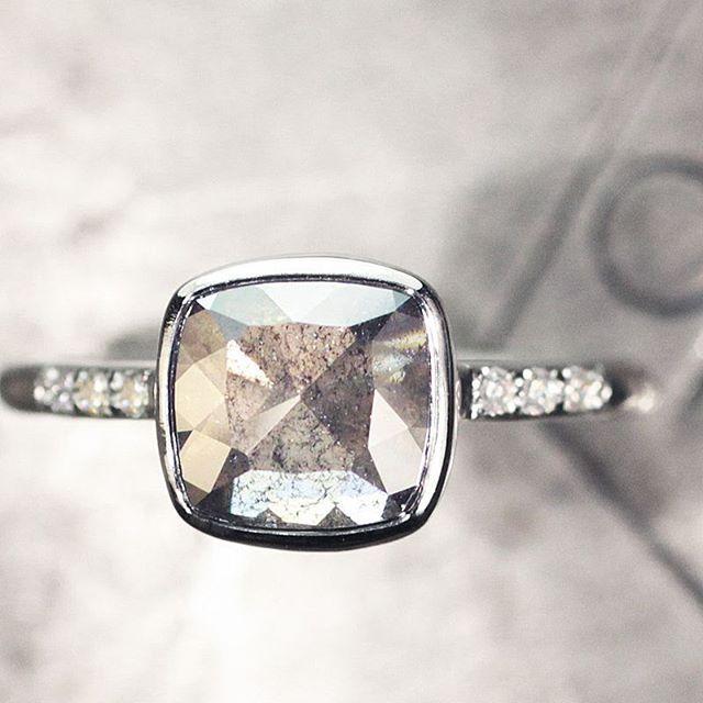 1.5 carat salt & pepper diamond ring. chincharmaloney.com