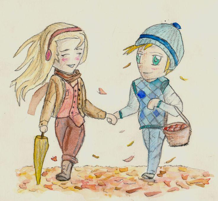 podzimní radost Tužka - aquarel