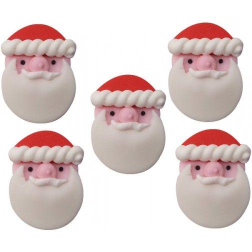 Zuckerdekor Weihnachtsmann 5Stück