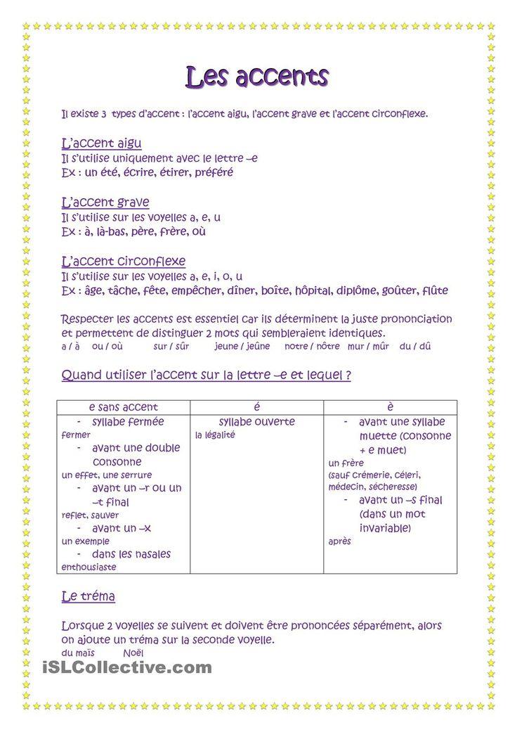 Les accents #french #francais Plus