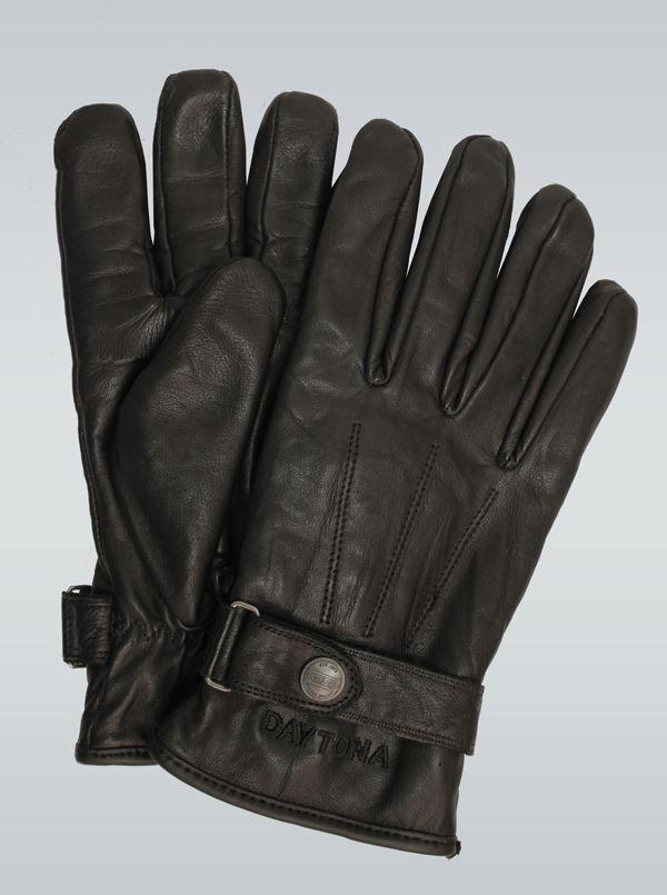 Gants en cuir noir pour homme Daytona 73 | Black leather gloves
