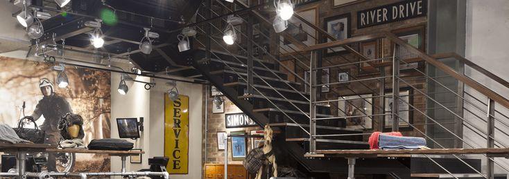 Barbour Store, London #Commerciallighting #lighting #retaillighting #Shoplighting #Lighting #Retail #Shop #Displaylighting #Storelighting