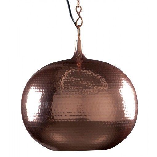 Zuiver Hanglamp Hammered Round - Koper #lamp #koper