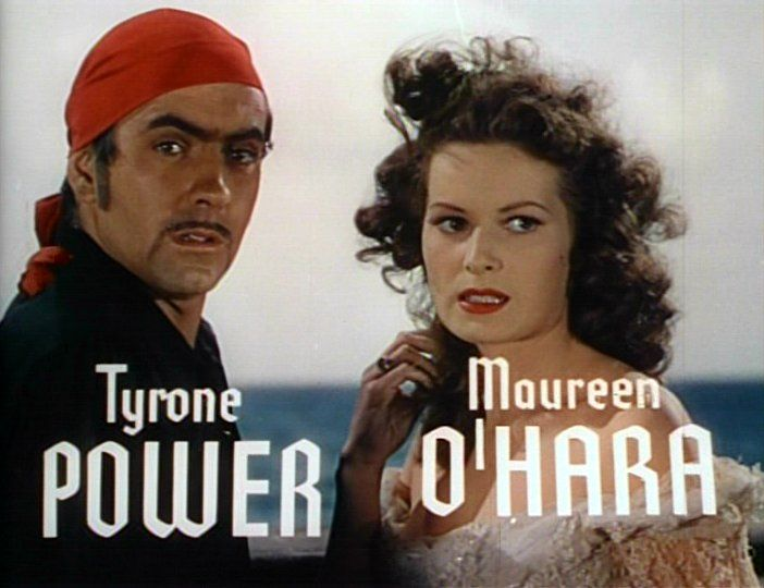 Maureen O'Hara and Tyrone Power in the trailer for The Black Swan (1942)