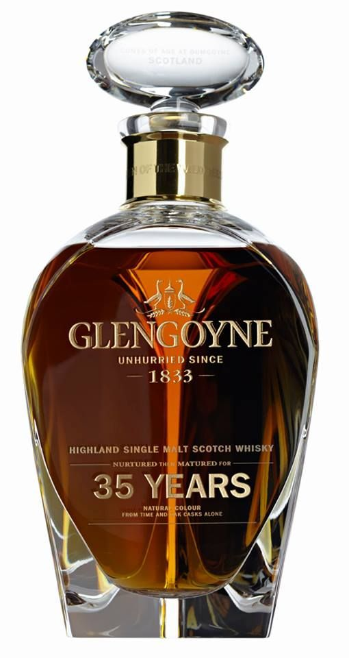 Glengoyne 35 - Finish:	 The tropical fruit intensity returns and lingers at the back of the throat while the whisky becomes slowly drier, with liquorice, brown sugar and dark chocolate beautifully balanced. A whisky not to be rushed!