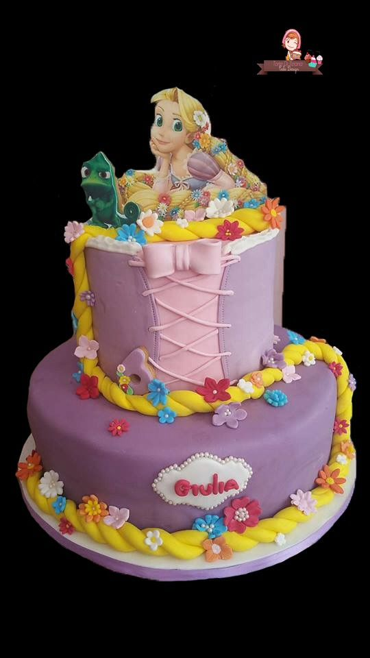 Torta rapunzel 24 best Torte primo compleanno